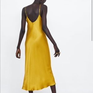 Zara Dresses - Zara Satin Slip Dress